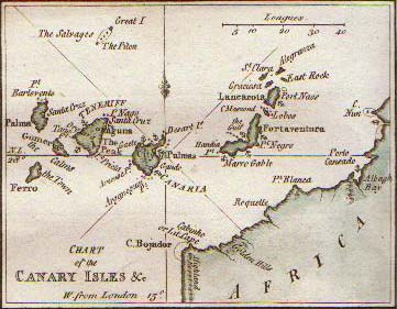 Canary Islands, 1758