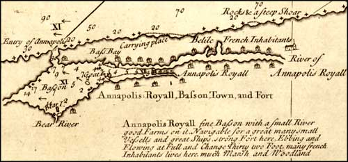 Annapolis Royal in 1734