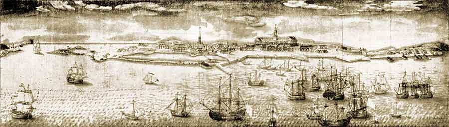 Louisbourg by Verrier, 1731