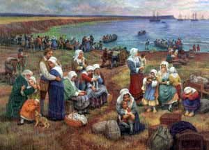 SHIPS TAKING ACADIANS INTO EXILE by Claude Picard